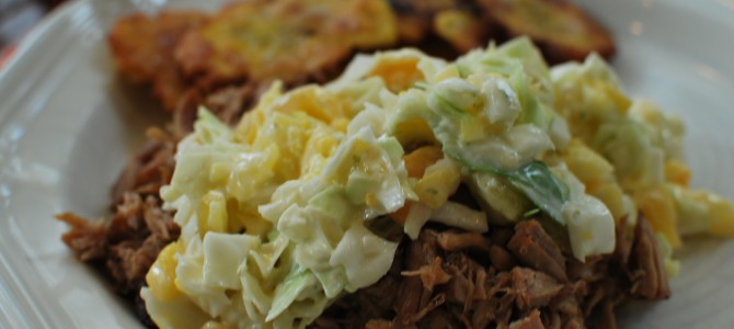Pineapple Mango Salsa Slaw