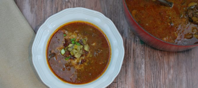 Primal Cheeseburger Soup (Paleo and AIP options)