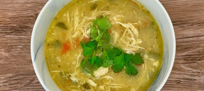 White Chicken Chili (Keto, Whole 30, Instant Pot)